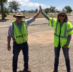 Dennis and Diane at EDB treatment site
