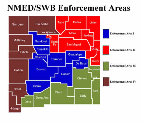 Map of SWB enforcement areas